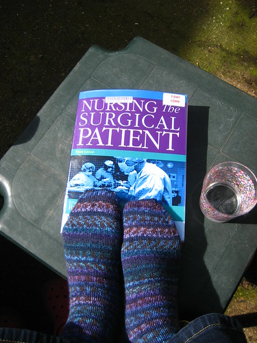 My new socks match my reading material!