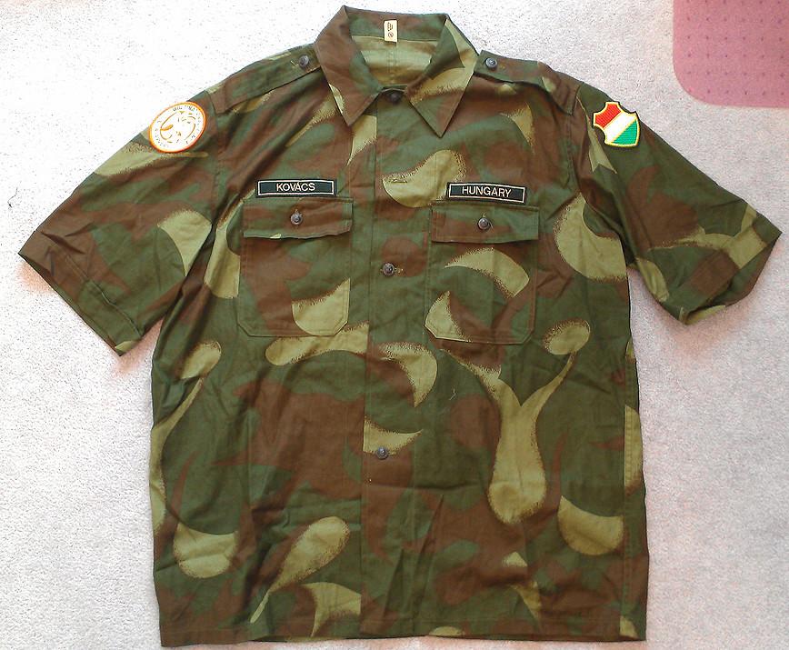 "Hungarian ""'Hurrikán"" pattern peacekeepers short sleeve shirt 8667715263_f0daa24145_b"