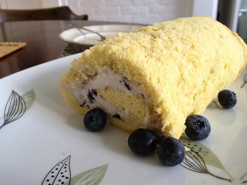 Apr.22.13 Freshly baked jelly roll for breakfast.