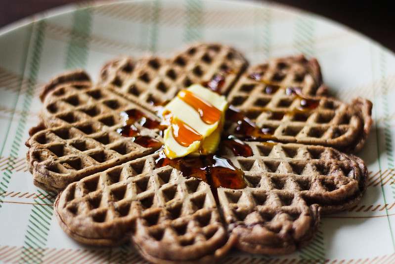 "Saturday, April 20: ""We're making waffles then gonna watch parks n rec, care to join?"" Best flatmates."