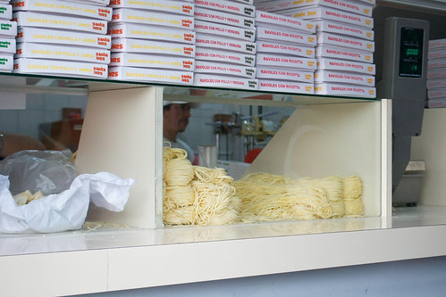 pasta shop - in the shop at front