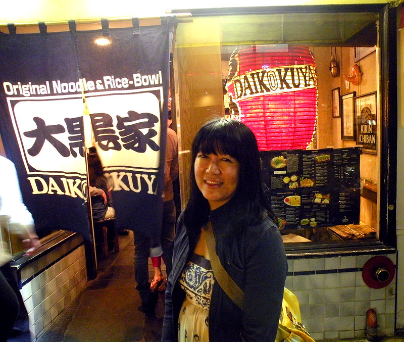 Anne in front of Ramen House