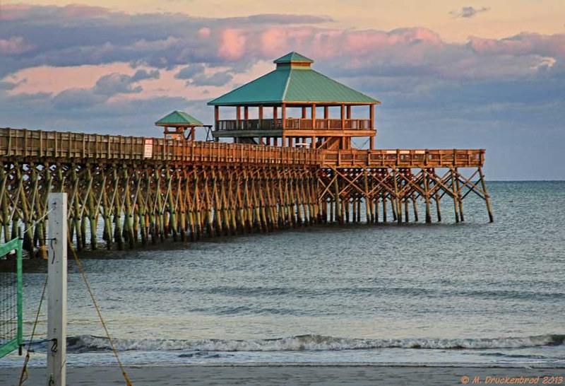 the folly beach fishing pier at night flickr photo