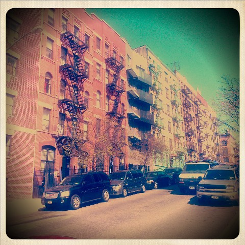 Our East Harlem street, and its a nice day. Love this fine town x