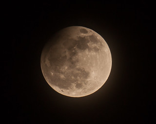 Partial Lunar Eclipse - April 2013 - Pink Moon