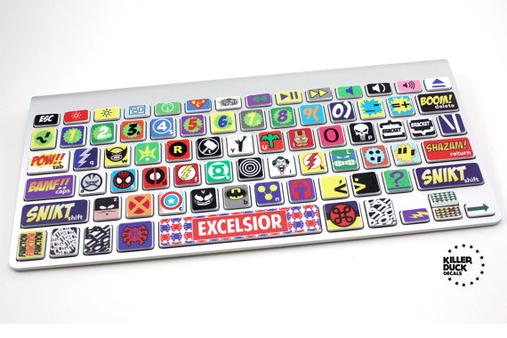 MacBook Keyboard Super Hero Skin 02
