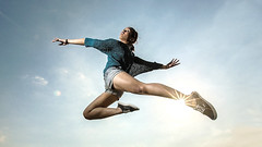 jumping, physical exercise,