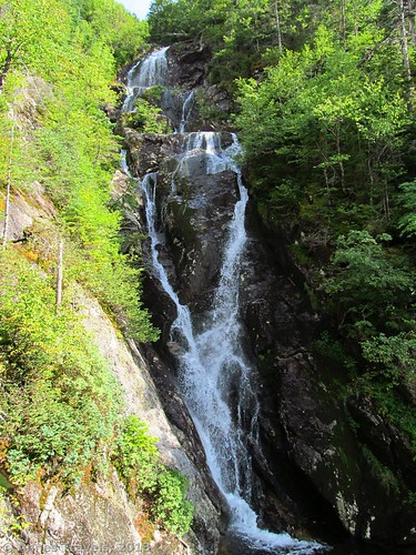The waterfall in The Gorge along the Ammonoosuc Ravine Trail, White Mountain National Forest, New Hampshire