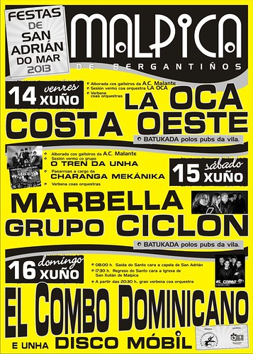 Malpica 2013 - Festas de San Adrián do Mar - cartel