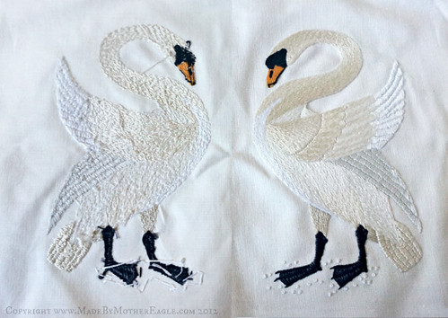 Mother Eagle embroidery back