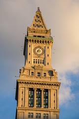 rosy light Customs House Tower