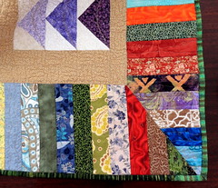 More quilting, scrappy binding