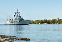 USS Reuben James (FFG 57) returns to Joint Base Pearl Harbor-Hickam in May after completing its final deployment. (U.S. Navy Photo by Mass Communication Specialist 2nd Class Tiarra Fulgham)