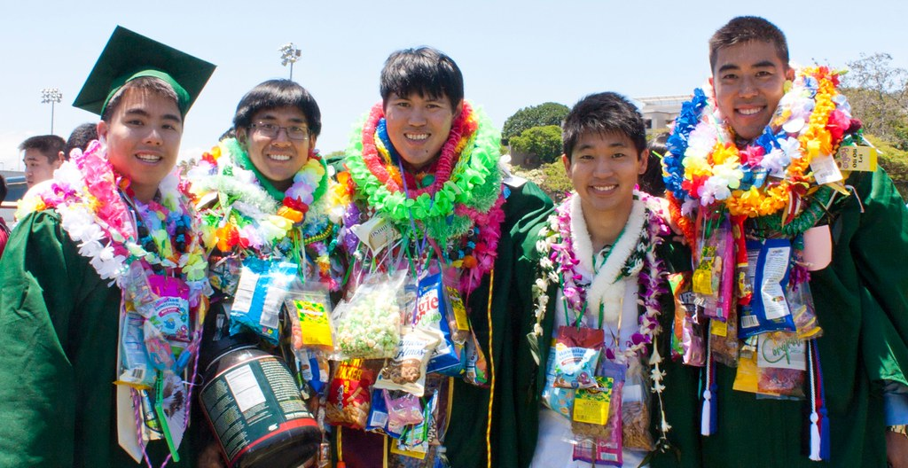 <p>University of Hawaii at Manoa graduates at the campus' commencement ceremony at the Stan Sheriff Center. May 11, 2013</p>