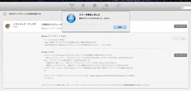 iTunes Update Error