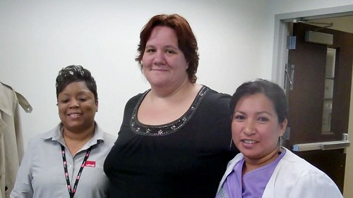 Dwana De'Lynn Edison — Patient Access Specialist with the Access Center, Rhonda James — Medical Assistant at Bay Colony ENT, and Linda Garcia —Medical Assistant at Bay Colony Pediatrics