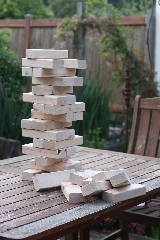 backyard jenga.