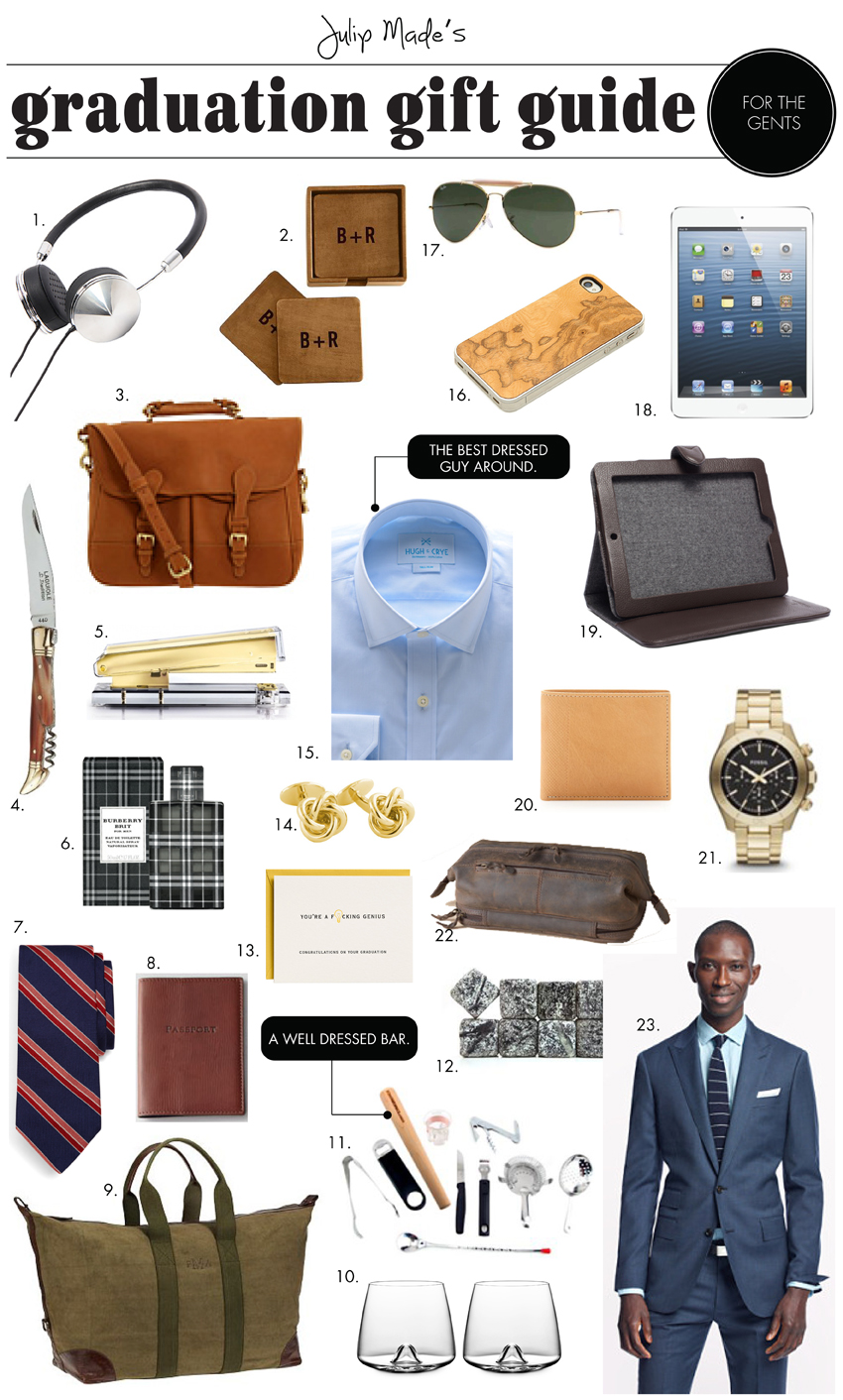 Julip Made graduation gift guide for the guys
