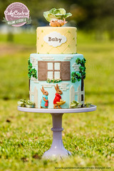 A Tale of The Flopsy Bunny Baby Shower Cake (Beatrix Potter)