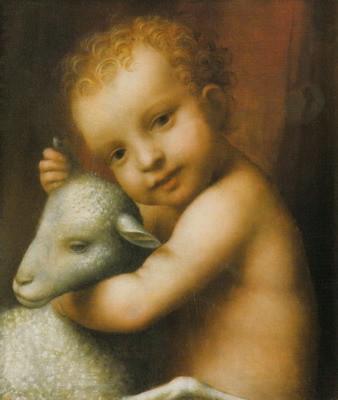 幼子イエスと子羊