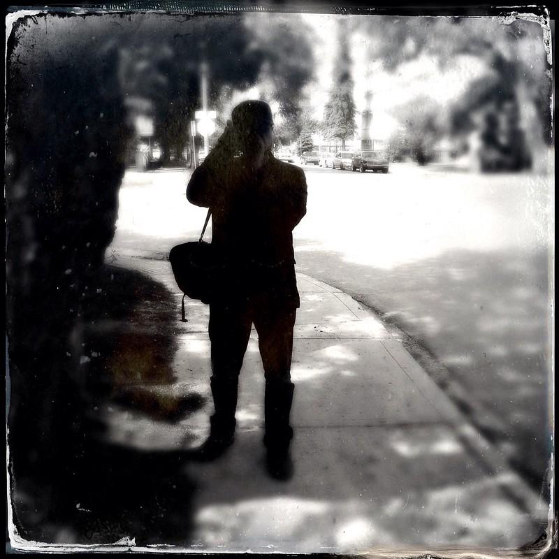Aidan in silhouette