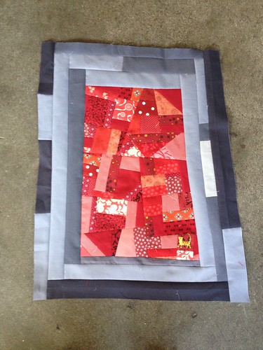 Made Fabric Red Block