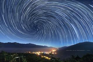 Fushoushan Farm at Night │ Star Trails