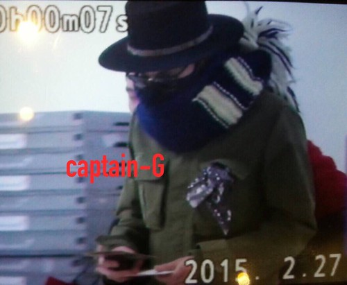 Big Bang - Gimpo Airport - 27feb2015 - G-Dragon - Captain G - 01