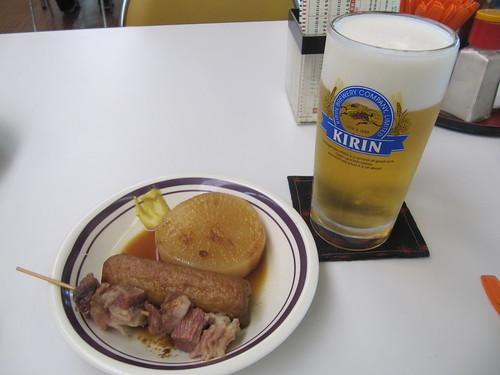 姫路競馬場のおでんとビール