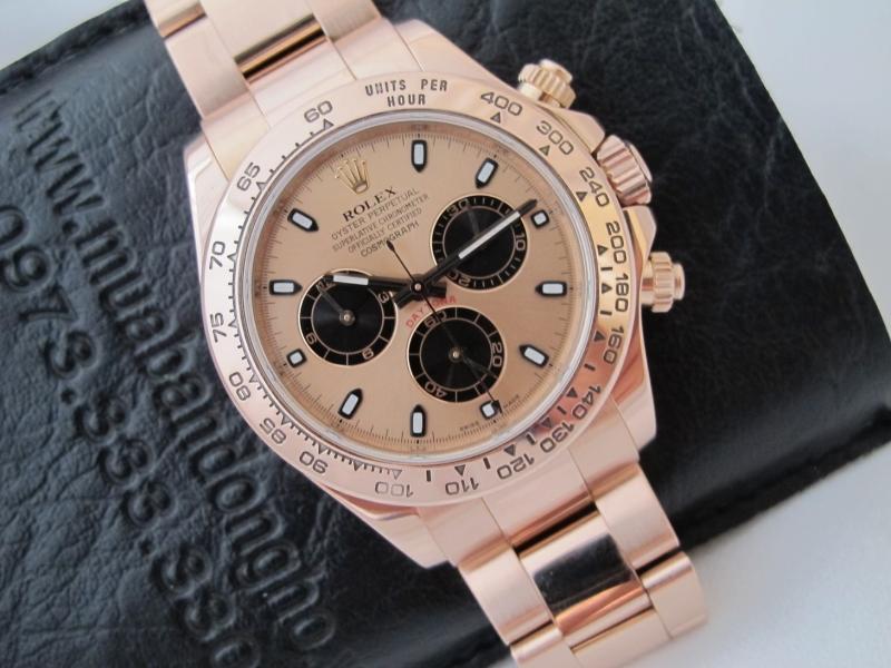 Bán đồng hồ rolex daytona 6 số 116505 – vàng hồng 18k – size 40mm