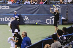 Donald Young with Billy Owens (Ballperson) at the 2016 Citi Open