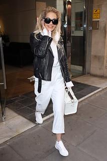 Rita Ora Monochrome Trend Celebrity Style Women's Fashion