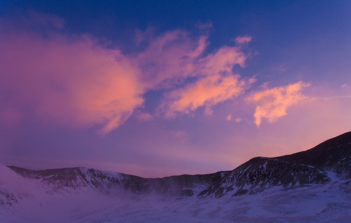 winter cold sunrise march colorado alma blowingsnow kitelake