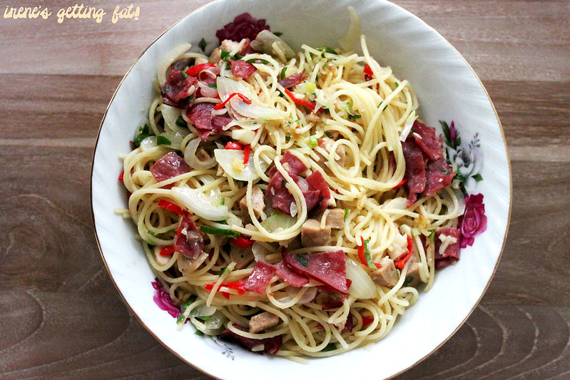 smoked-beef-aglio-olio