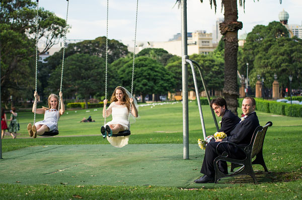 victoria park sydney swing set wedding bride