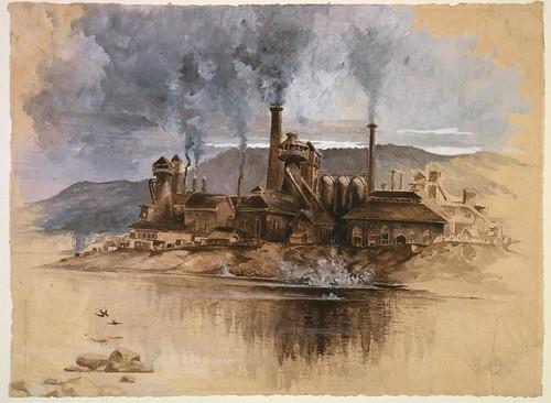 015- Pennsylvania, Bethlehem fabrica de acero -1881- Joseph Pennell-Library of Congress