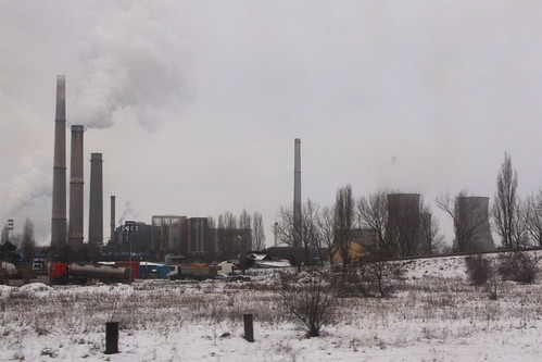 'CET Dalkia Brazi' power station outside the Romanian town of Brazi