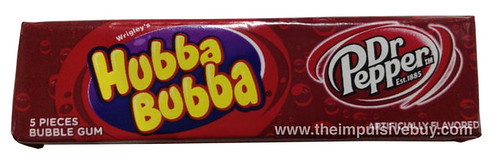 Wrigley's Hubba Bubba Dr Pepper Bubble Gum
