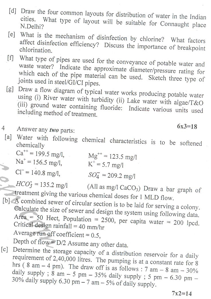 DTU Question Papers 2010 – 6 Semester - End Sem - CE-314
