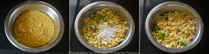 How to make vada pappu - Step1
