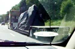 Truck carrying UFO cargo out of Wytheville Virginia