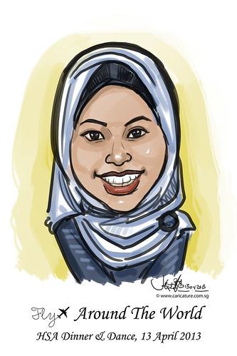 digital live caricature for HSA D&D 2013 - 7