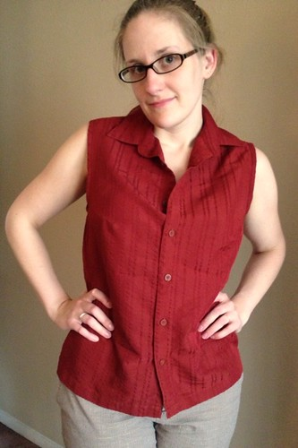 Sleeveless Blouse Refashion