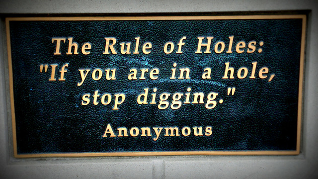 Rule of holes