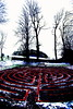 Labyrinth, HIgh Contrast, St Beuno's, winter