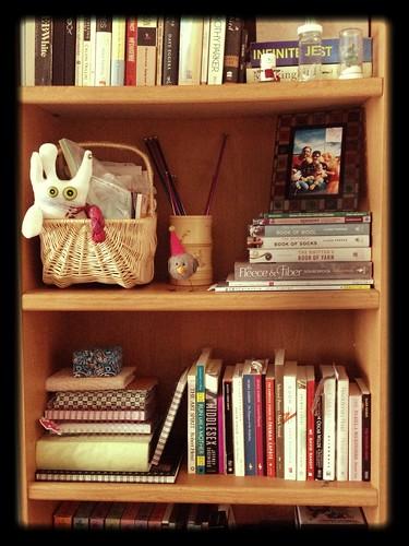 Bookshelf. Tidied.