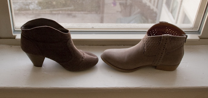 new suede ankle boots, target suede ankle boot comparison, tan suede ankle booties