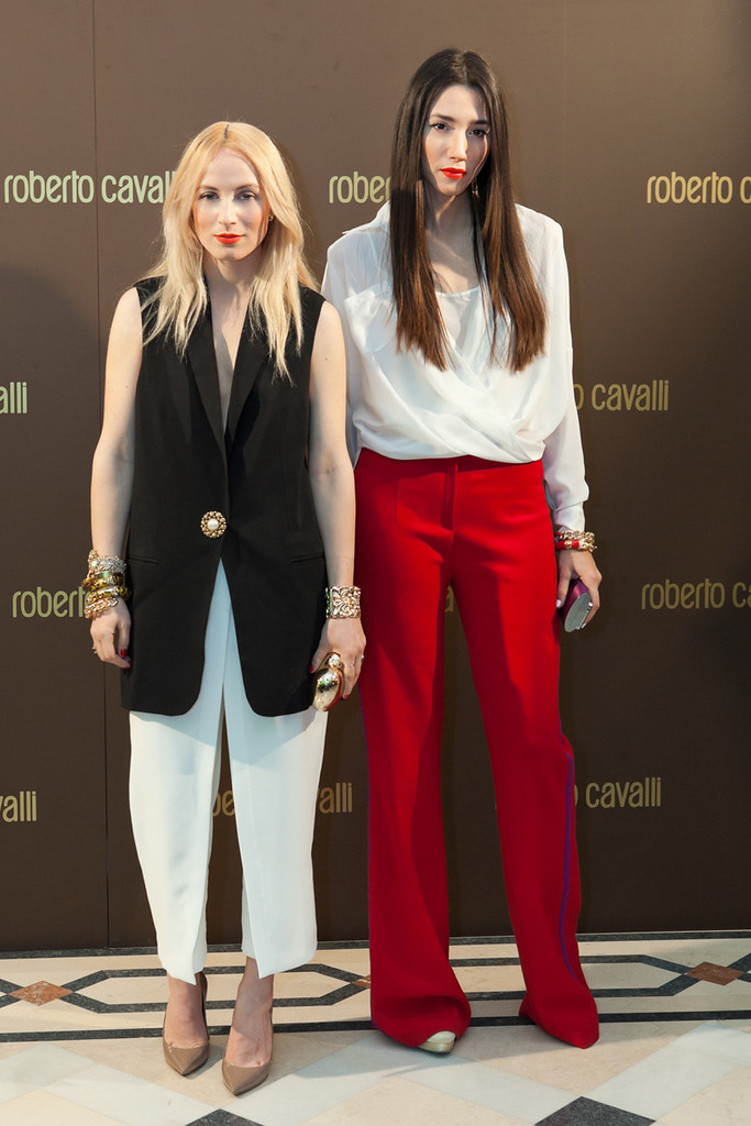 Diana Enciu and Alina Tanasa at Roberto Cavalli Boutique - Roberto Cavalli SS2013 Collection.
