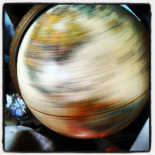 Keep on spinnin', you crazy world! #Earth #EarthDay #Globe