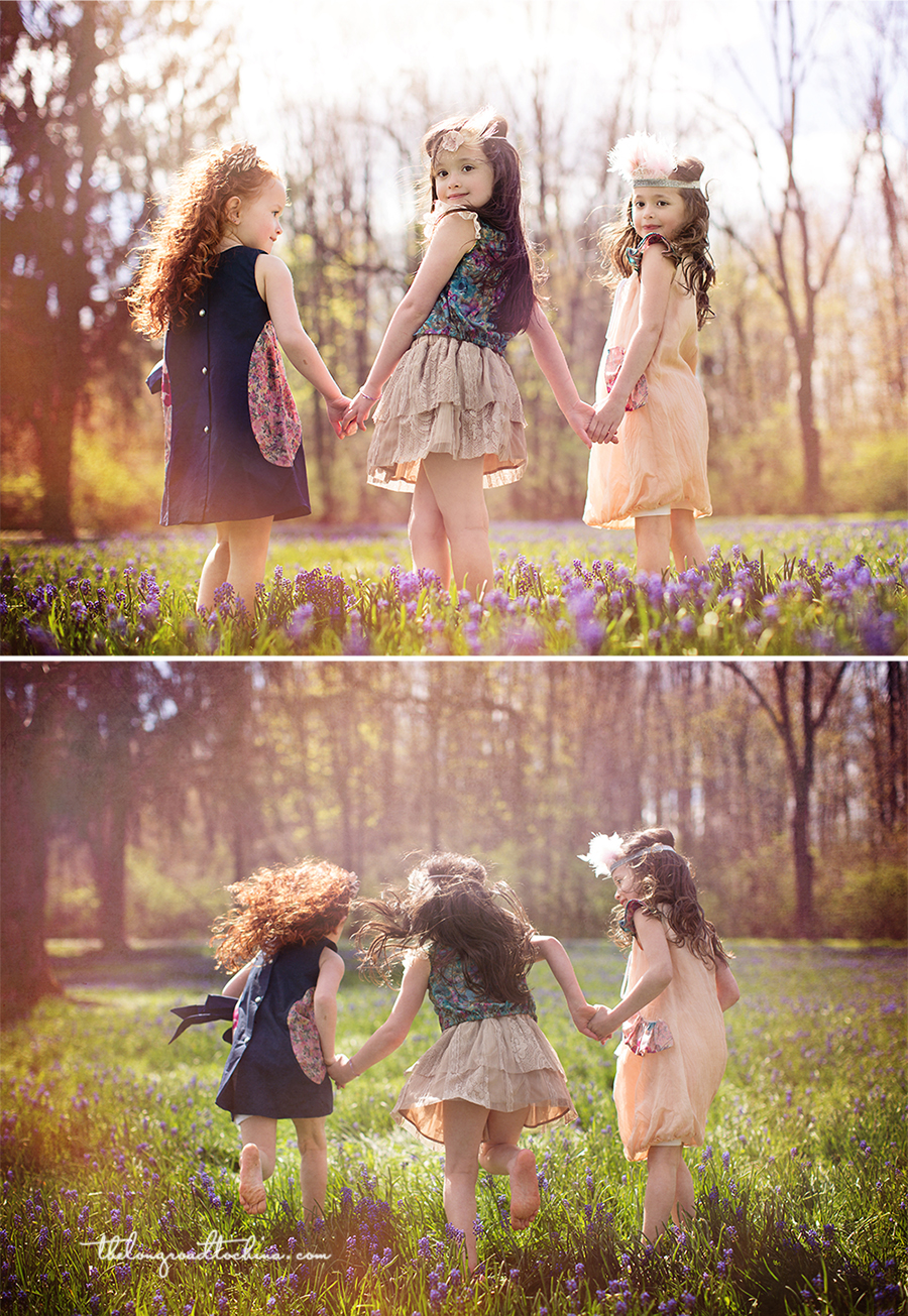 Triplets On The Run Collage